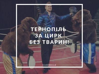 Тернопіль за цирк без тварин! Надіємось на...